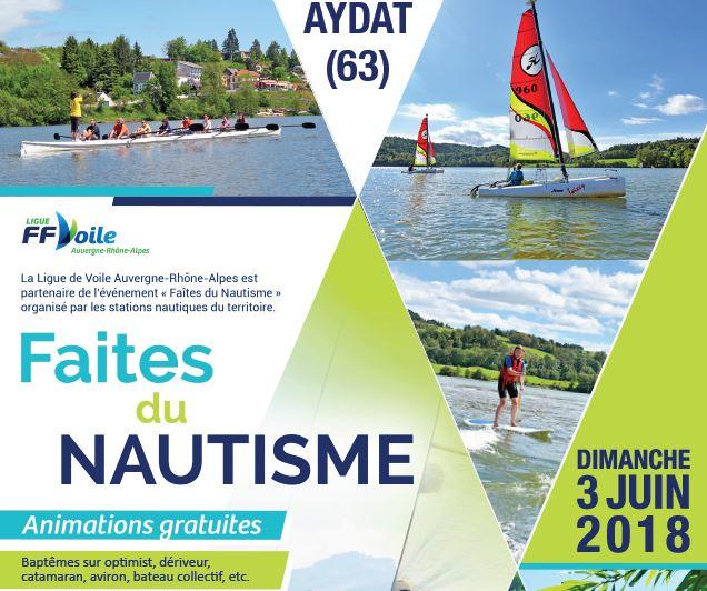 L'Aviron Clermont Aydat, Faites du nautisme 2018