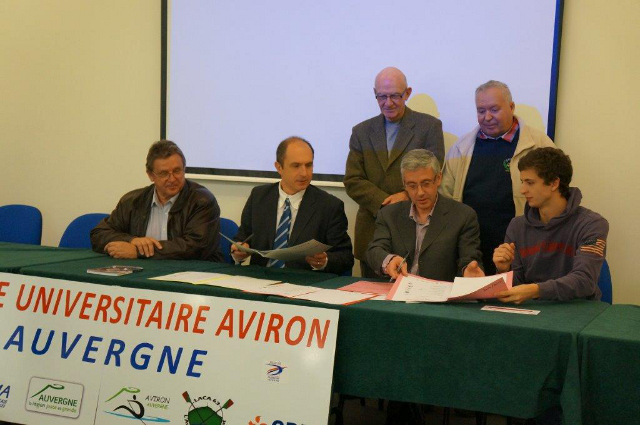 L'Aviron Clermont Aydat, centre universitaire, convention