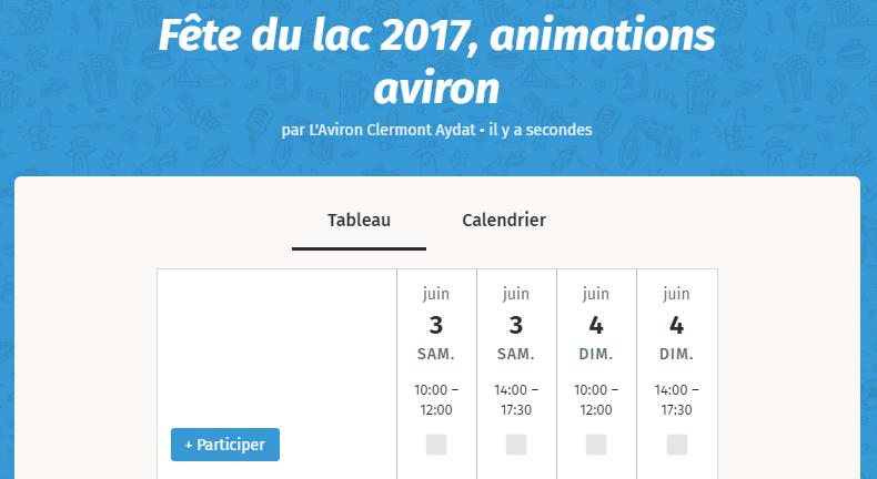 L'Aviron Clermont Aydat, Fête du lac 2017