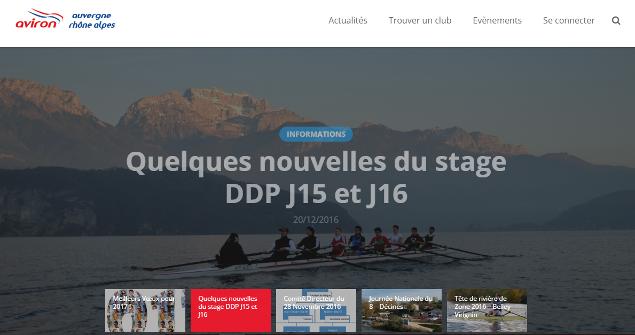 L'Aviron Clermont Aydat, site Ligue Auvergne Rhône Alpes